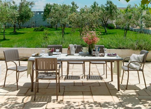 マエストラーレ テーブル&チェアー7点セット